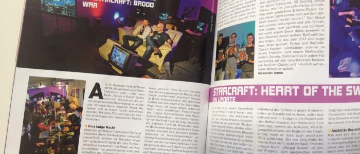 Gamers.at / Alexander Amon über BarCraft Classic in der Ausgabe 2013/02