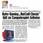 Kronen Zeitung 13.12.2012 - BarCraft Classic Ankündigung